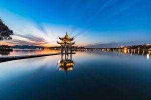 图片[1]-西湖夕阳-金瓦刀
