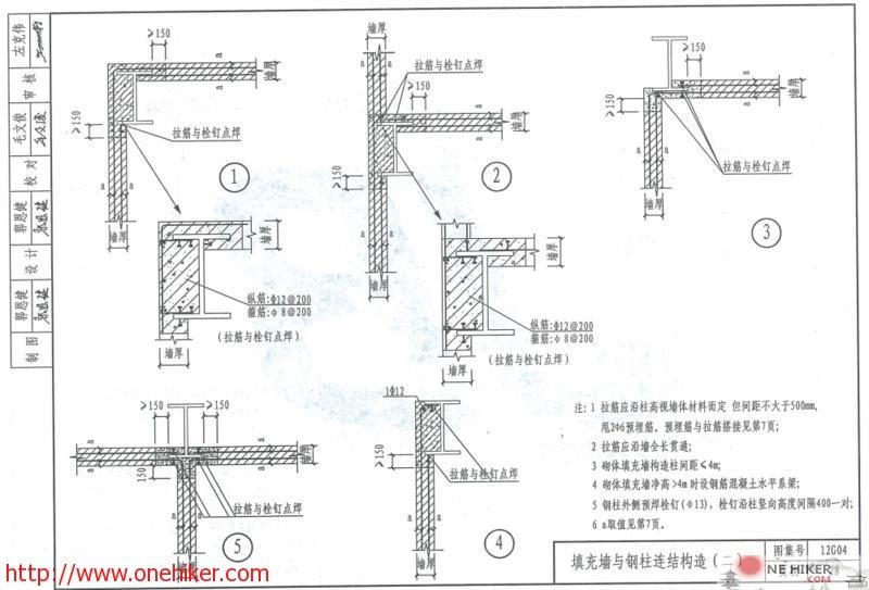 图片[3]-填充墙与钢结构连接构造及12G614-1_砌体填充墙结构构造建筑图集下载-金瓦刀