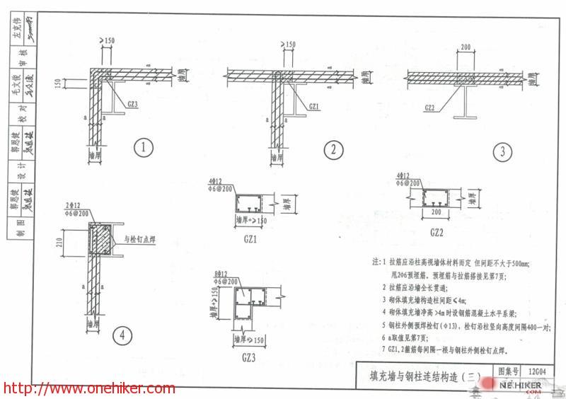 图片[2]-填充墙与钢结构连接构造及12G614-1_砌体填充墙结构构造建筑图集下载-金瓦刀